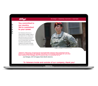 Careers for Veterans at Kellogg NA Co.